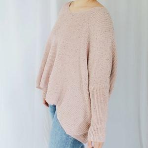 NWOT Rhea knit oversized dolman blush sweater